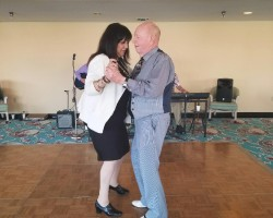 WE LOVE TO DANCE at Arcadia Gardens! Our staff members enjoy dancing with our residents and getting some healthy exercise. The upbeat music of the Time Machine keeps our dance floor busy.