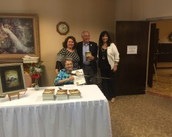 """Arcadia Mayor Gary Kovacic stopped by Arcadia Gardens to honor our very own Parise Arakelian with a special award as she celebrated the launch of her new book, """"The Martyr's Son,"""" a book about her beloved father, Armen Arakelian."""