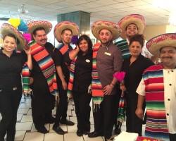 Employees preparing for Cinco De Mayo celebration