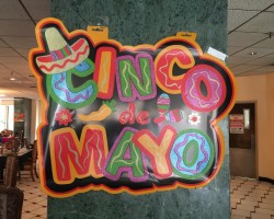 Employees preparing for Cinco De Mayo celebration