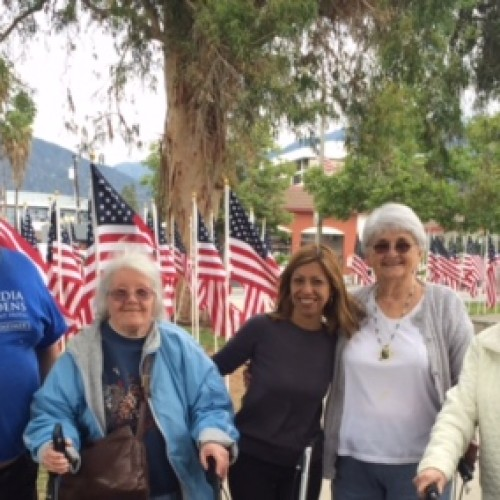 A few of our residents enjoyed visiting the field of honor at Arcadia Park