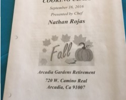 Fall cooking class with chef Nathan